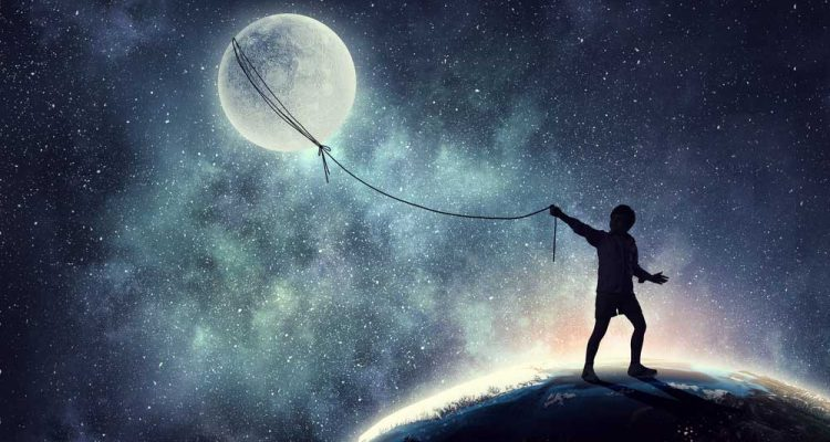 Man Pulling The Moon
